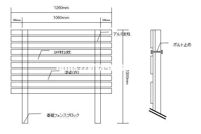 木製パネルの設計図イメージ