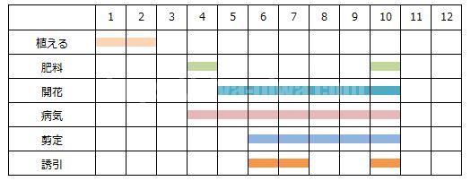 育て方の年間スケジュール表