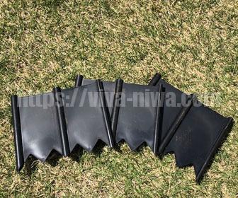 芝生のエッジ処理見切り材