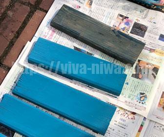 廃材を塗装する