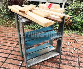 廃材を利用してエアコンの室外機カバーを作る